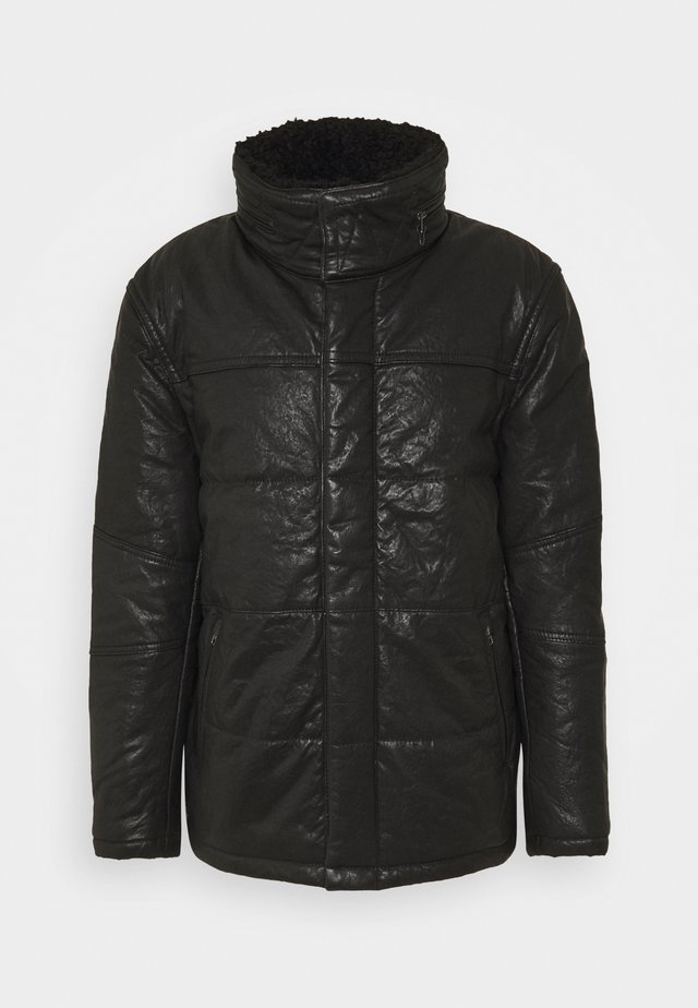 BEFALK - Kožená bunda - black