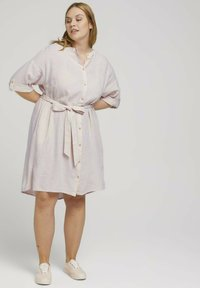 MY TRUE ME TOM TAILOR - STYLE WITH - Shirt dress - ecru shades vichy - 1