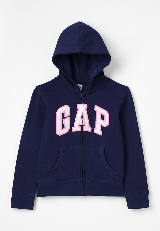 GIRLS ACTIVE LOGO - veste en sweat zippée - elysian blue