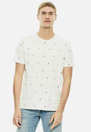 WITH ALLOVER MINI PRINT - Print T-shirt - white