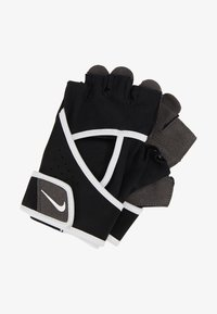 Nike Performance - GYM PREMIUM FITNESS GLOVES - Fingerless gloves - black/white - 1