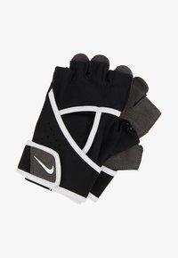 Nike Performance - GYM PREMIUM FITNESS GLOVES - Fingerhansker - black/white - 1