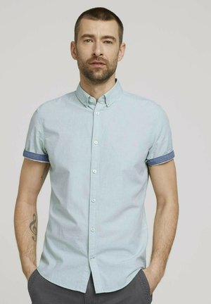 Shirt - green chambray with dobby