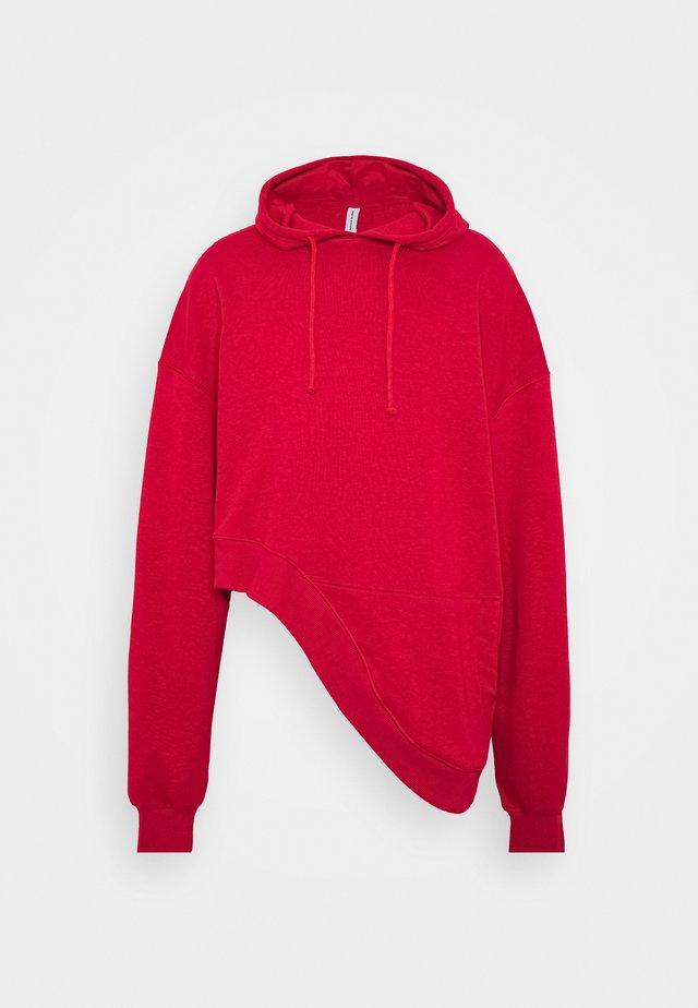 UNISEX WAVE HOODIE - Hoodie - red
