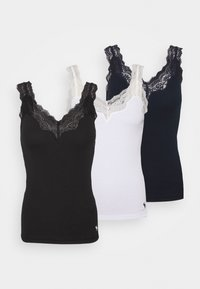 Abercrombie & Fitch - BARE CAMI 3 PACK - Top - black/white/navy - 0
