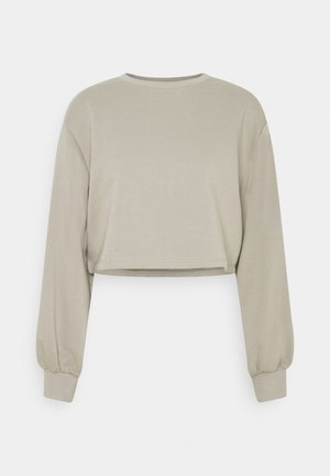 VOLUME SLEEVE CROP - Sweatshirt - grey