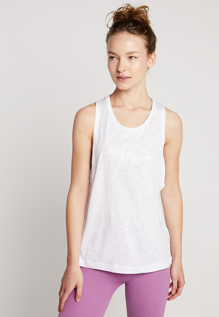 Hey Honey - TANK BREATHE EASY  - Top - white