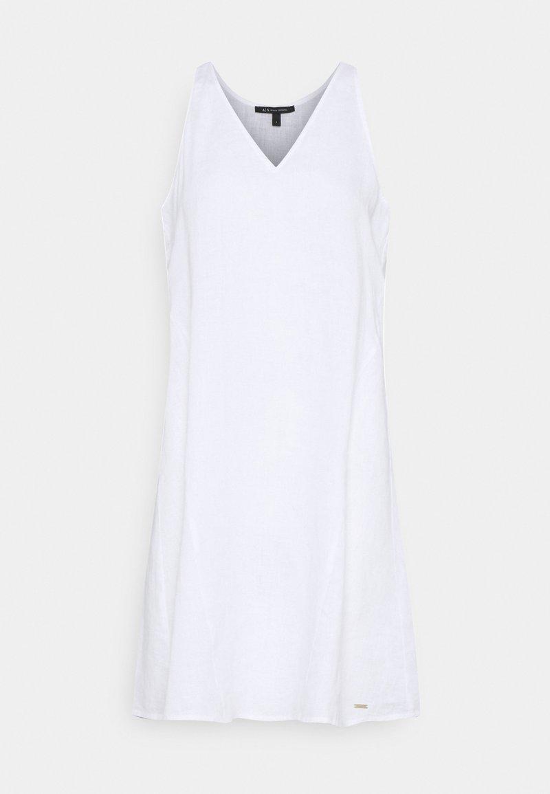 Armani Exchange - VESTITO - Denní šaty - optic white