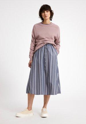 A-line skirt - indigo-white