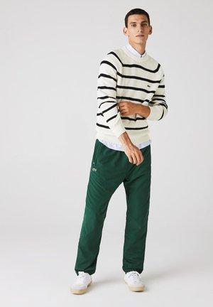 Pullover - weiß / navy blau