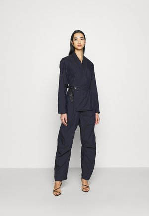 WRAP JUMPSUIT - Mono - rinsed