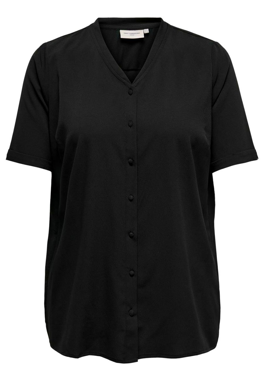 Donna HEMD CURVY PRINT - Camicetta - black