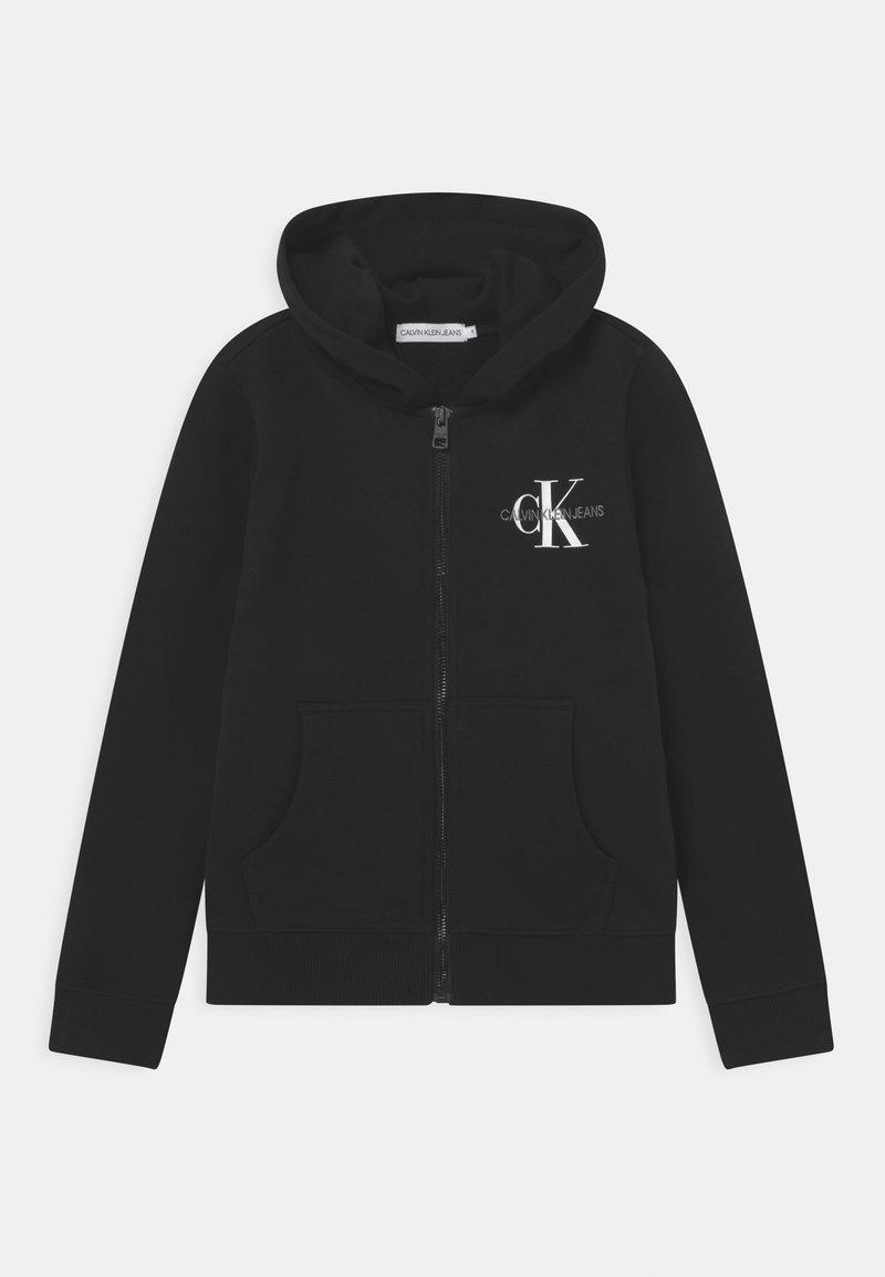 Calvin Klein Jeans - MONOGRAM ZIP THROUGH HOODIE UNISEX - Zip-up sweatshirt - black