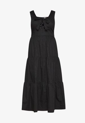 EYELET DETAIL MAXI DRESS - Maxi šaty - black