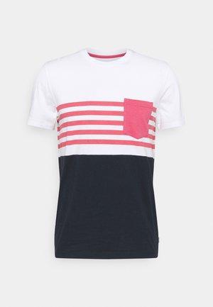 JJCONTRAST POCKET TEE CREW NECK - Camiseta estampada - slate rose