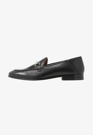 LEATHER - Loaferit/pistokkaat - black