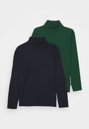 KIDS BASIC ROLLNECK 2 PACK - Long sleeved top - nachtblau/tanne