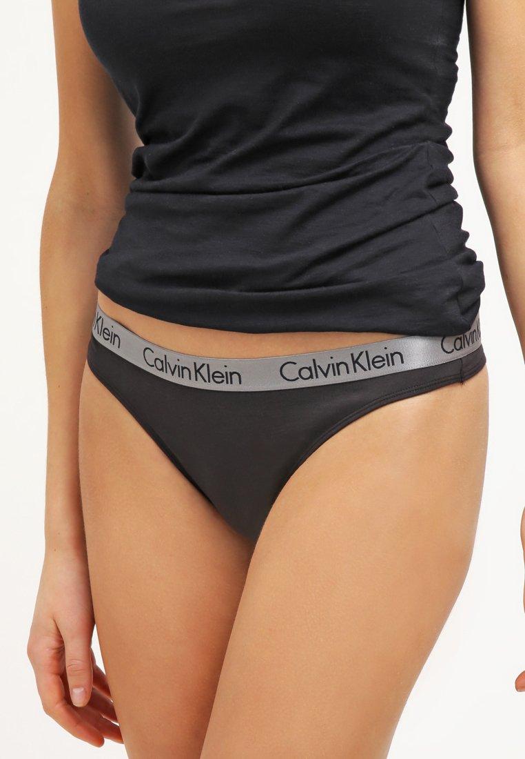 Calvin Klein Underwear - RADIANT THONG - Thong - black