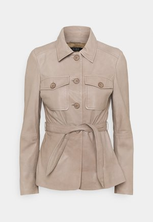 JETTA - Leather jacket - taupe