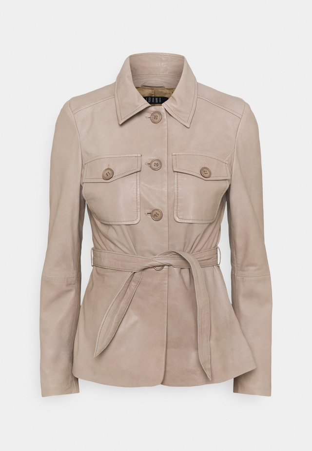 JETTA - Leather jacket - taupe
