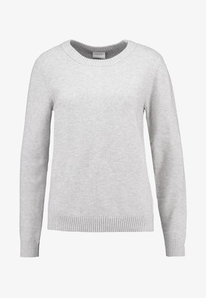 VIRIL O NECK - Jumper - light grey melange
