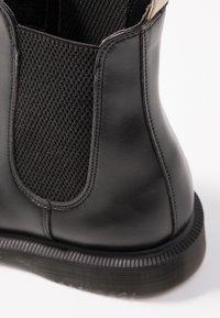 Dr. Martens - VEGAN FLORA CHELSEA BOOT - Classic ankle boots - black felix - 2