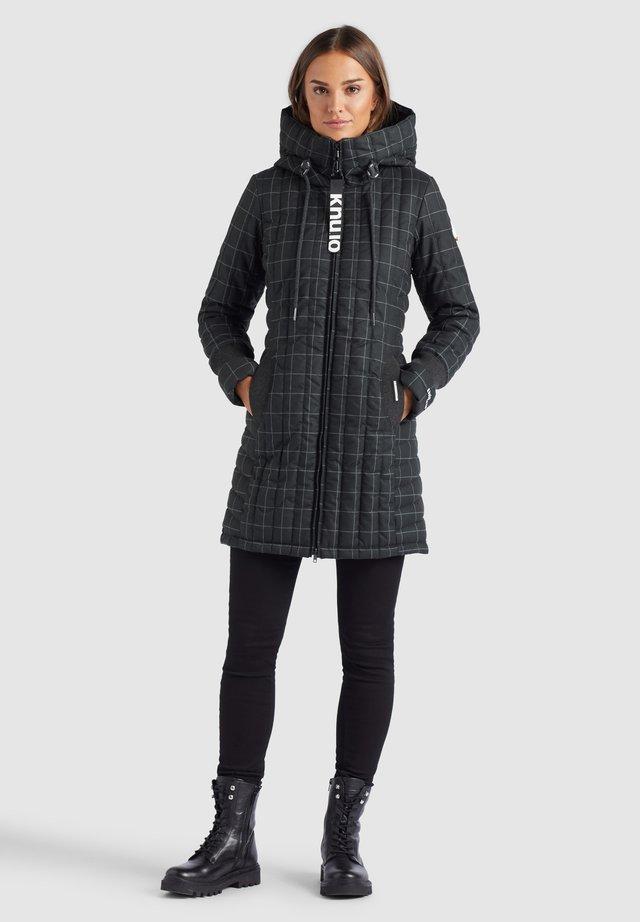 JERRY PRIME - Winter coat - dunkelblau kariert