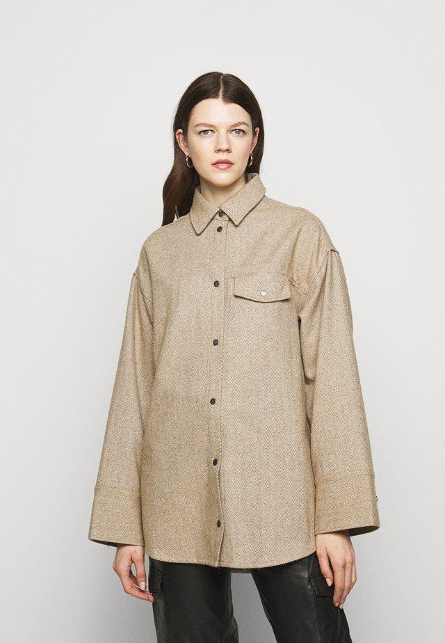 BIRD - Button-down blouse - camel