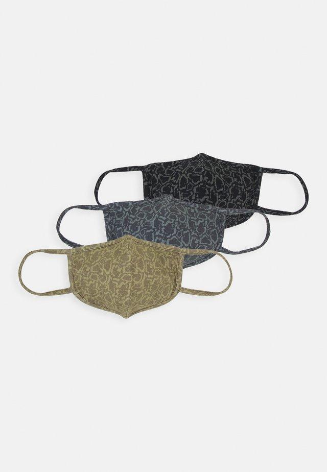 3 PACK UNISEX - Stoffen mondkapje - black/olive /grey