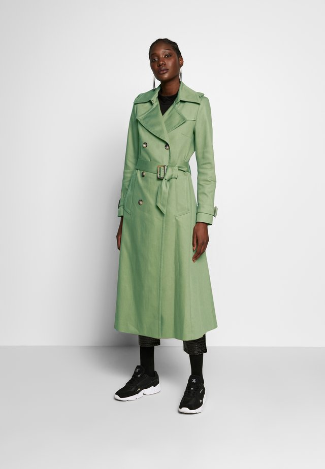 VINTAGE - Trench - sage green