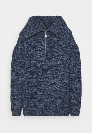 MOON ZIP UP JUMPER - Sweter - navy/blue