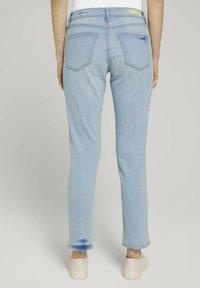 TOM TAILOR DENIM - Slim fit jeans - destroyed light stone blue den - 2