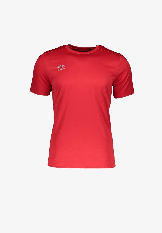 Basic T-shirt - rotschwarz