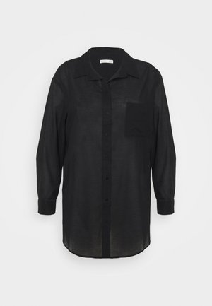 SAVANNAH OVERSIZE SHIRT - Button-down blouse - black