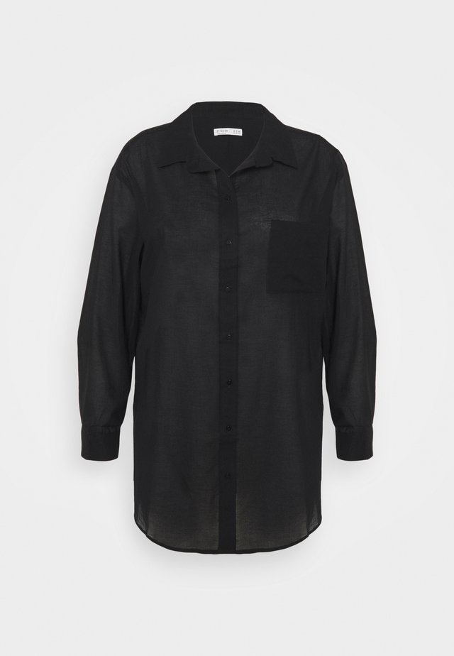 SAVANNAH OVERSIZE SHIRT - Chemisier - black