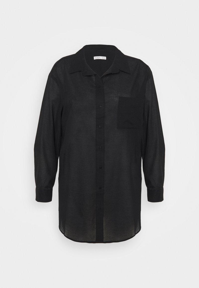 Cotton On Curve - SAVANNAH OVERSIZE SHIRT - Button-down blouse - black