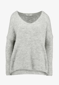 ONLY - ONLHANNA MAYE V NECK - Trui - light grey - 3
