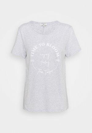 Print T-shirt - comfort grey melange