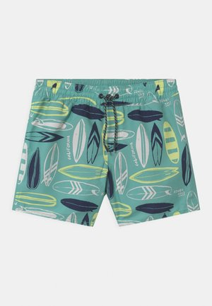 PRINT - Swimming shorts - blue/yellow