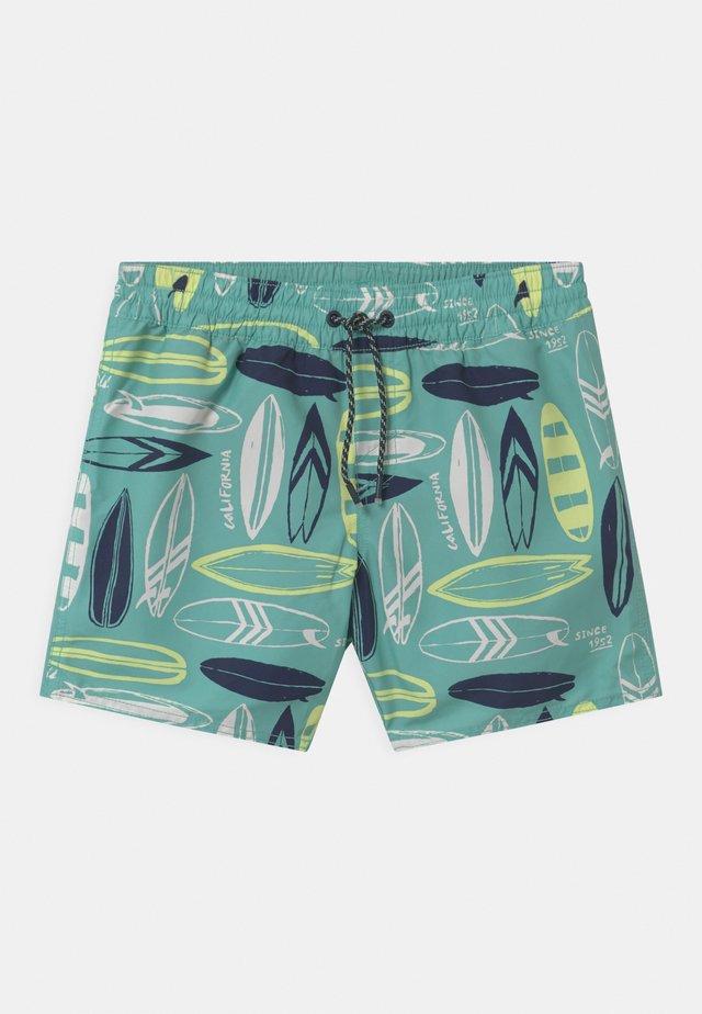 PRINT - Swimming shorts - blue/yellow