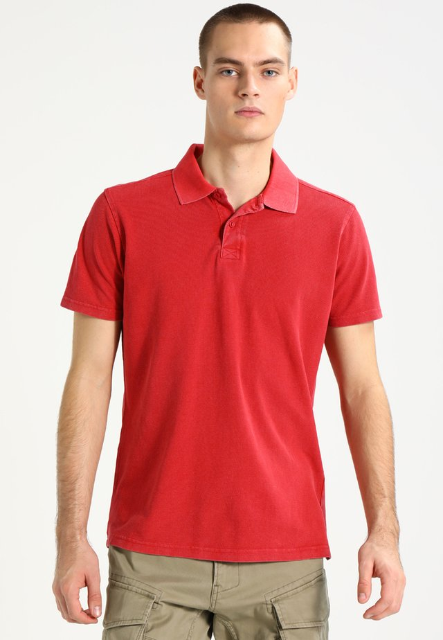ACID WASH - Polo - red