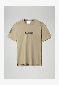 Napapijri - S-OAHU - Print T-shirt - silver sage - 5