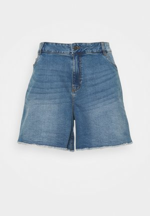 NMKATY MOM SHORTS  - Shorts di jeans - medium blue denim