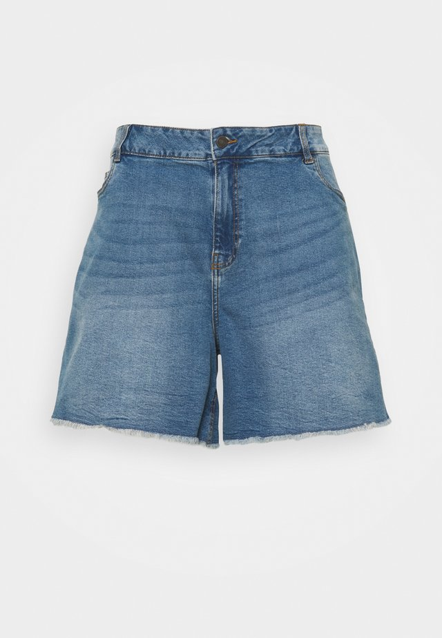 NMKATY MOM SHORTS  - Shorts di jeans - medium blue denim