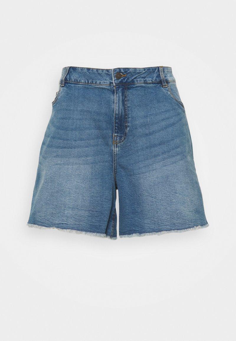Noisy May Curve - NMKATY MOM SHORTS  - Shorts di jeans - medium blue denim