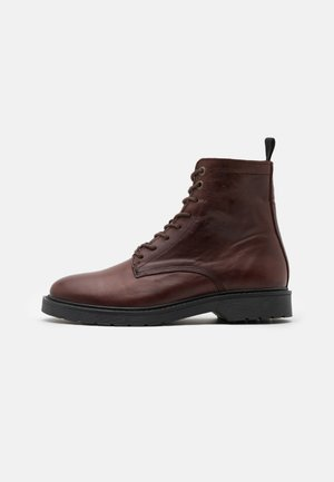 SLHTIM BOOT - Lace-up ankle boots - demitasse