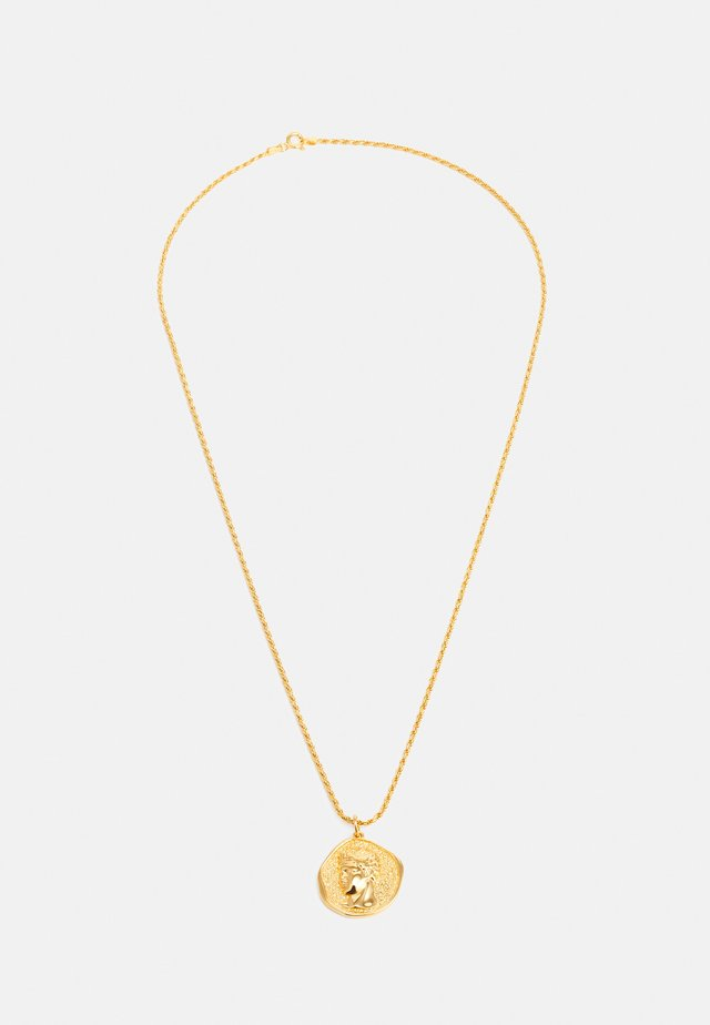 HERMIS LARGE PENDANTTHICK CORD CHAIN - Ketting - gold-coloured