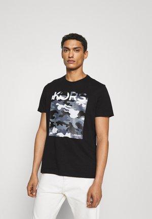 CAMO BLOCK - Print T-shirt - black
