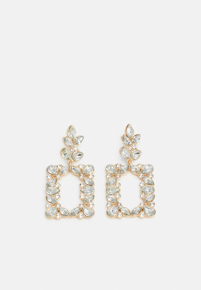 PCBENNIA EARRINGS - Orecchini - gold-coloured/clear