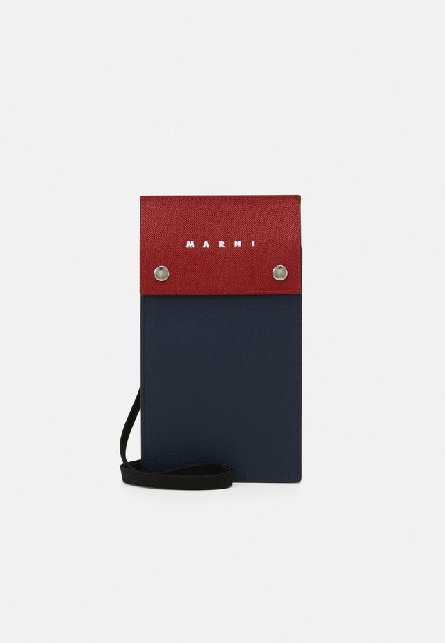 UNISEX - Across body bag - night blue/red/petroleum